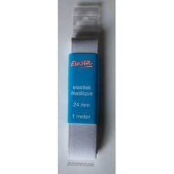 Elasta elastiek wit 24mm