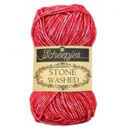 Stone Washed kleur 807 rood Scheepjes